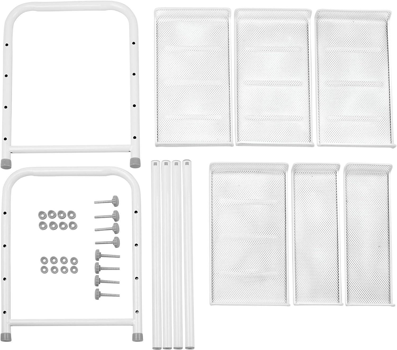 clevere Wandaufbewahrung ohne Bohren Sp/üle und K/üchenschr/änke ausziehbar auf 57,2 cm K/üchenregal f/ür Arbeitsplatte silber Abstellfl/äche auf zwei Ebenen mDesign K/üchen Organizer