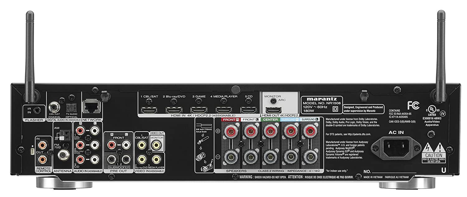 Marantz Profesional nr1506 5.2-Channel Slim Red AV Receptor: Amazon.es: Electrónica