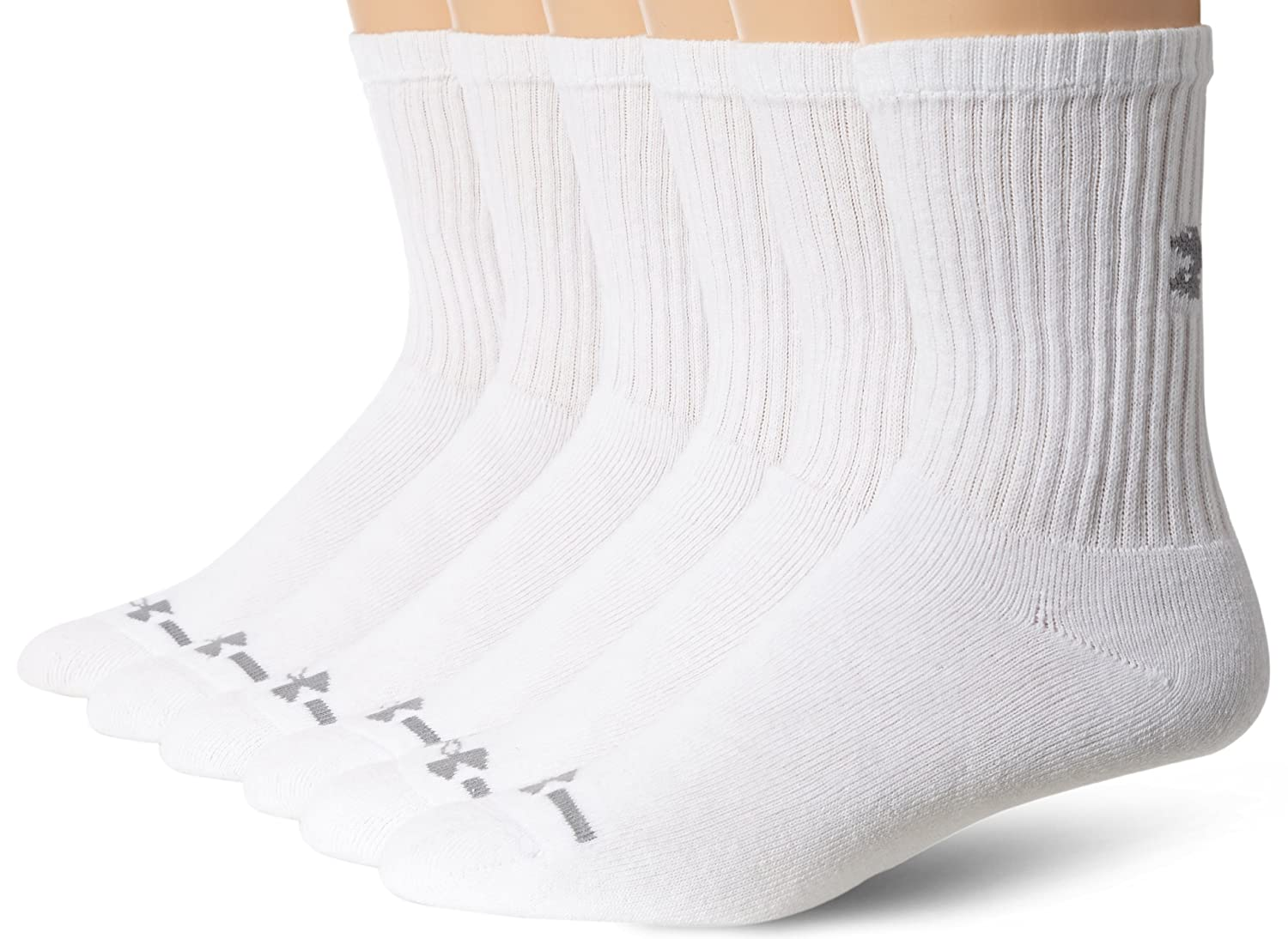 Under Armour Men's Charged Cotton Crew Socks (6 Pack) Under Armour Socks