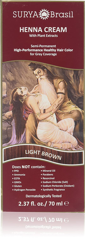 Surya Brasil Henna Cream Hair Coloring Light Brown - 2.31 fl oz SH3590REV00