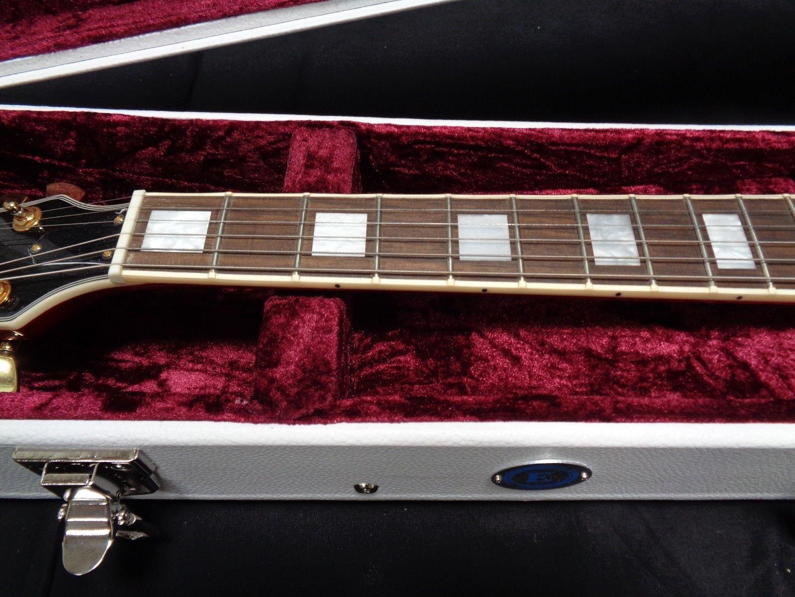 Allen Eden White Hard Shell Electric Guitar Case for Arch Top Les Paul by Allen Eden (Image #9)