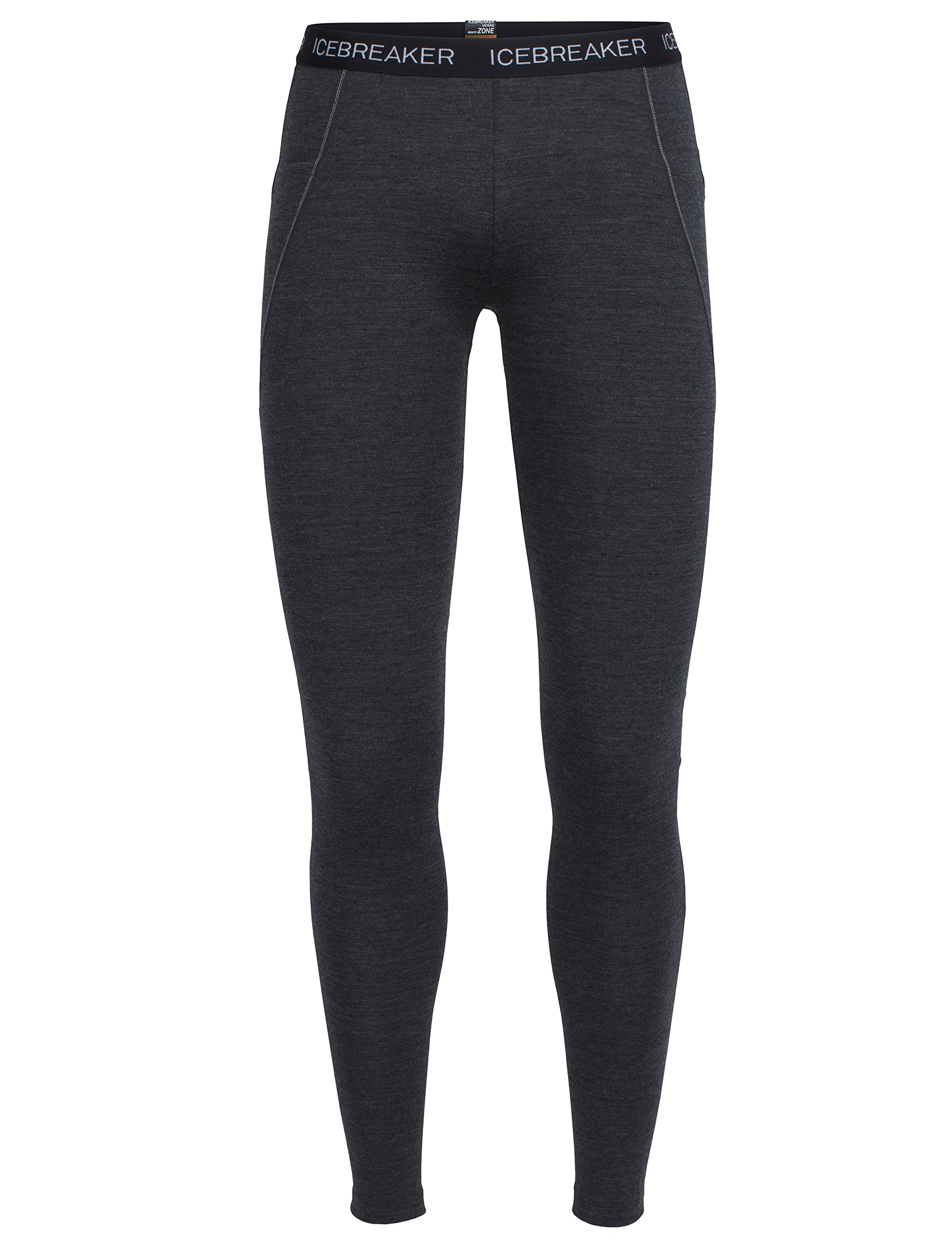Icebreaker Merino Women's Winter Zone Leggings, Jet Heather/Black/Snow, Small