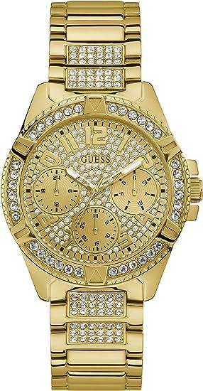 Guess Reloj Analógico para Mujer de Cuarzo con Correa en Acero Inoxidable W1156L2