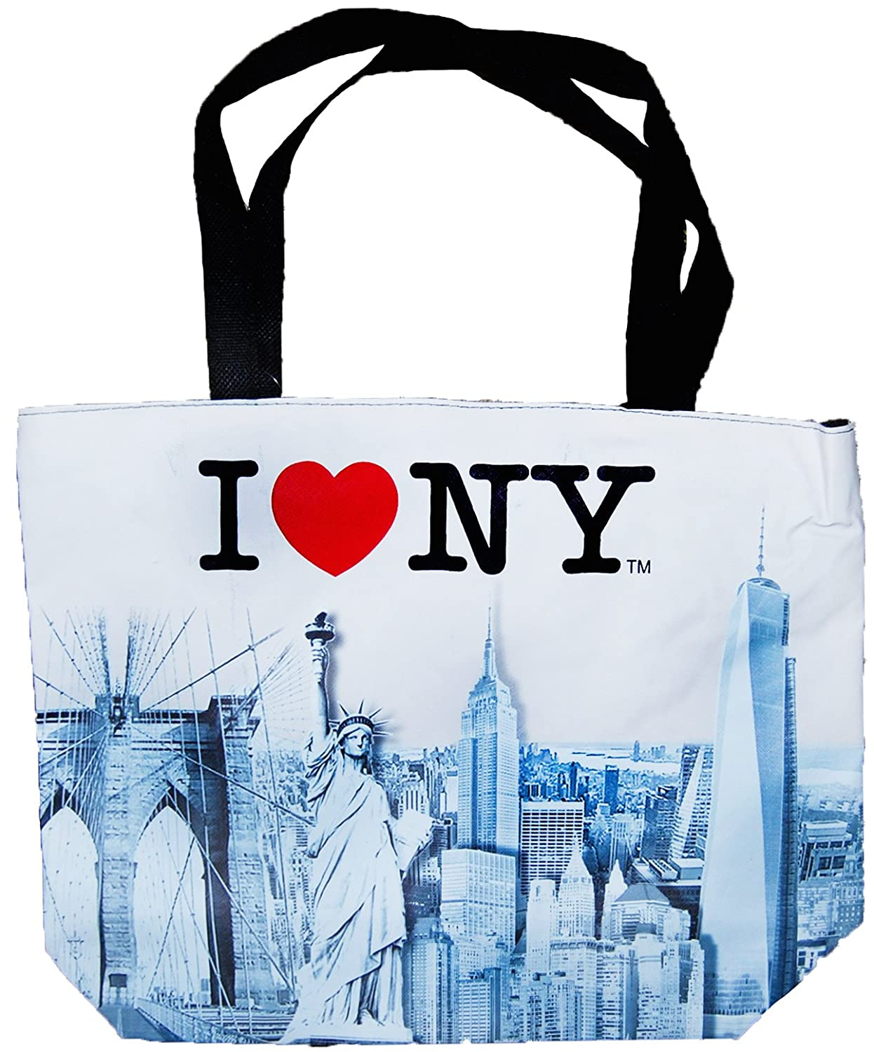 365e7b717a82 Amazon.com  New York City Skyline Designer Picture Large Souvenir Bags (I  Heart NY)  Kitchen   Dining