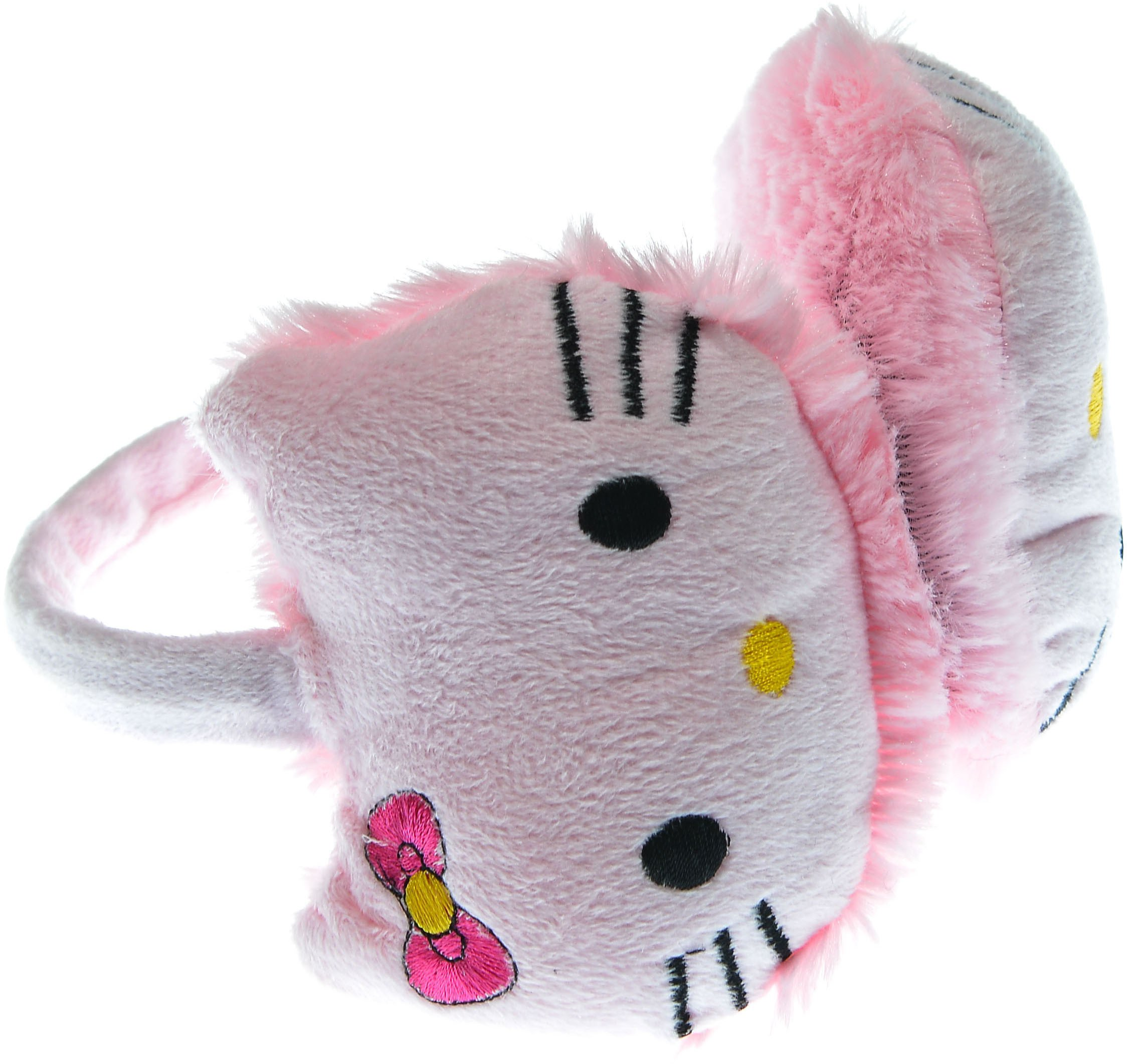 Hand By Hand Aprileo Girl Hello Kitty Earmuff Ear Warmer Animal Faux Fur [Pink.](One Size)
