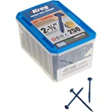 "Kreg SML-C250B-250 Blue-Kote Weather Resistant Pocket Hole Screws - 2 1/2"", 8 Coarse, Washer Head, 250 count"
