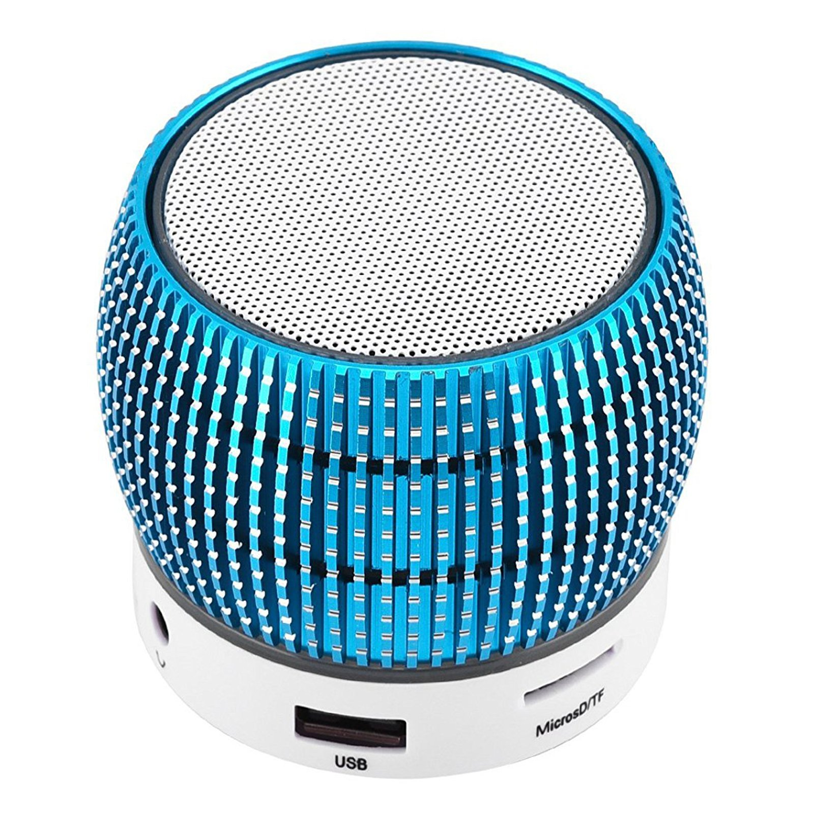 Bluetooth Speakers Wireless LED Light Mini Speaker Built-in Microphone Home Travel Outdoors Speaker for Android Samsung Galaxy Note 8 5 4 S9 S8 S7 S6 Edge iPhone Nexus iPad Tablets PC Blue