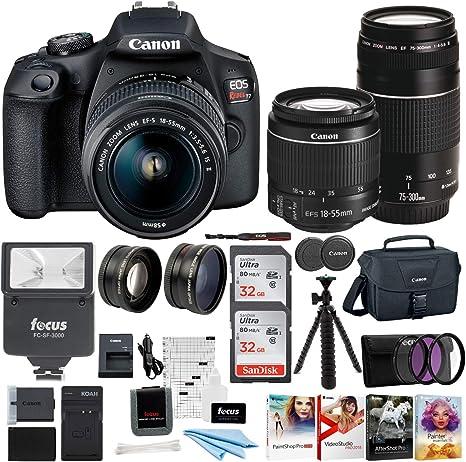 Amazon.com: Canon EOS Rebel T7 Cámara DSLR EF-S 0.709-2.165 ...