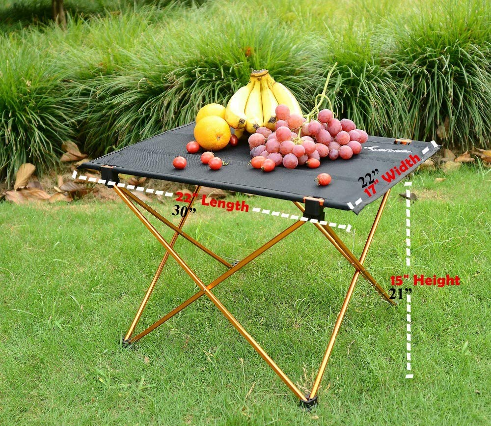 OTTAB Outdoor Picnic Table Camping Aluminium Alloy Picnic Table Waterproof Ultra-Light Durable Folding Table Desk for Picnic& Camping Red Small
