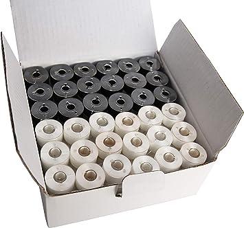 Prewound hilo de Bobina Talla L Negro Poliéster 10 20 50 144 máquinas de bordar