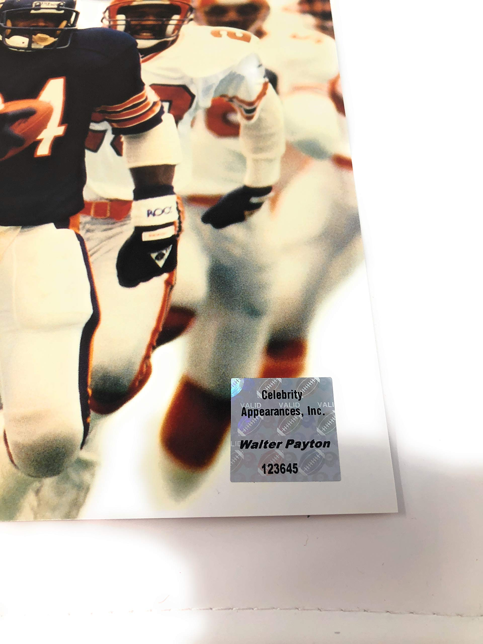 Walter Payton Chicago Bears Signed Autograph SI 16x20 Photo Photograph W Payton Foundation Certified