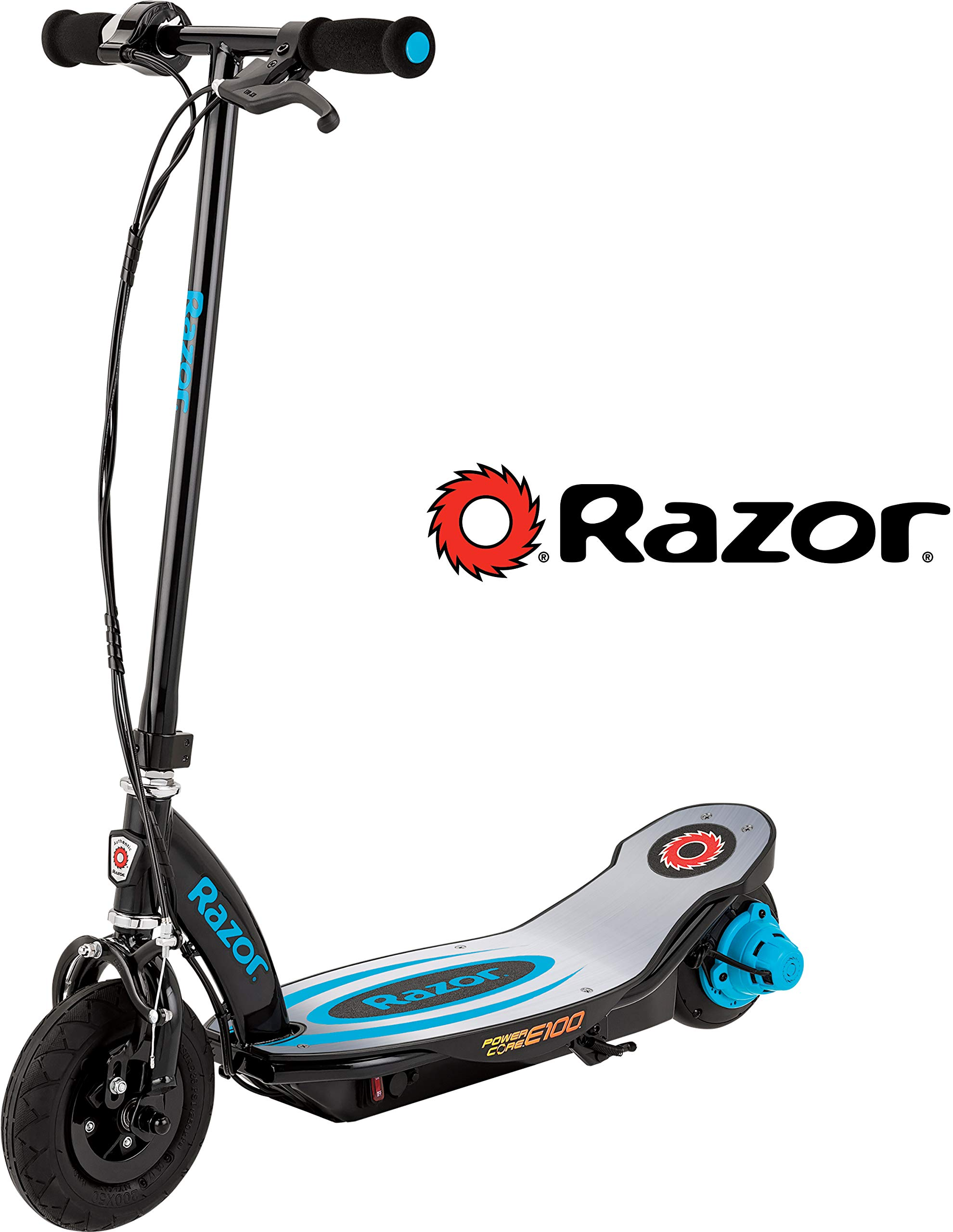 Razor Power Core E100 Electric Scooter with Aluminum Deck - Blue by Razor