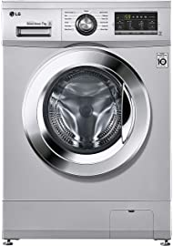 LG 7 kg Inverter Fully Automatic Front Loading Washing Machine  FH2G6HDNL42, Luxury Silver, Inbuilt Heater