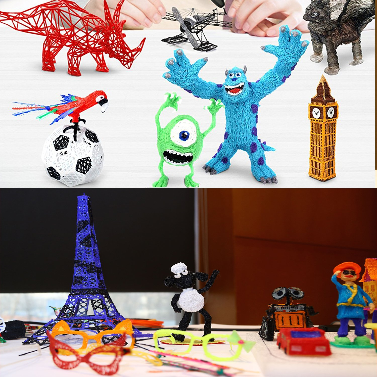 3D Pen,THINKIDEA 3D Printing Pen Compatible with 1.75mm Low Temperature PCL Filament,Newest Gift Toy for Kids and Adults,Childrens Safety Create Doodle DIY Arts and Crafts,No Smell