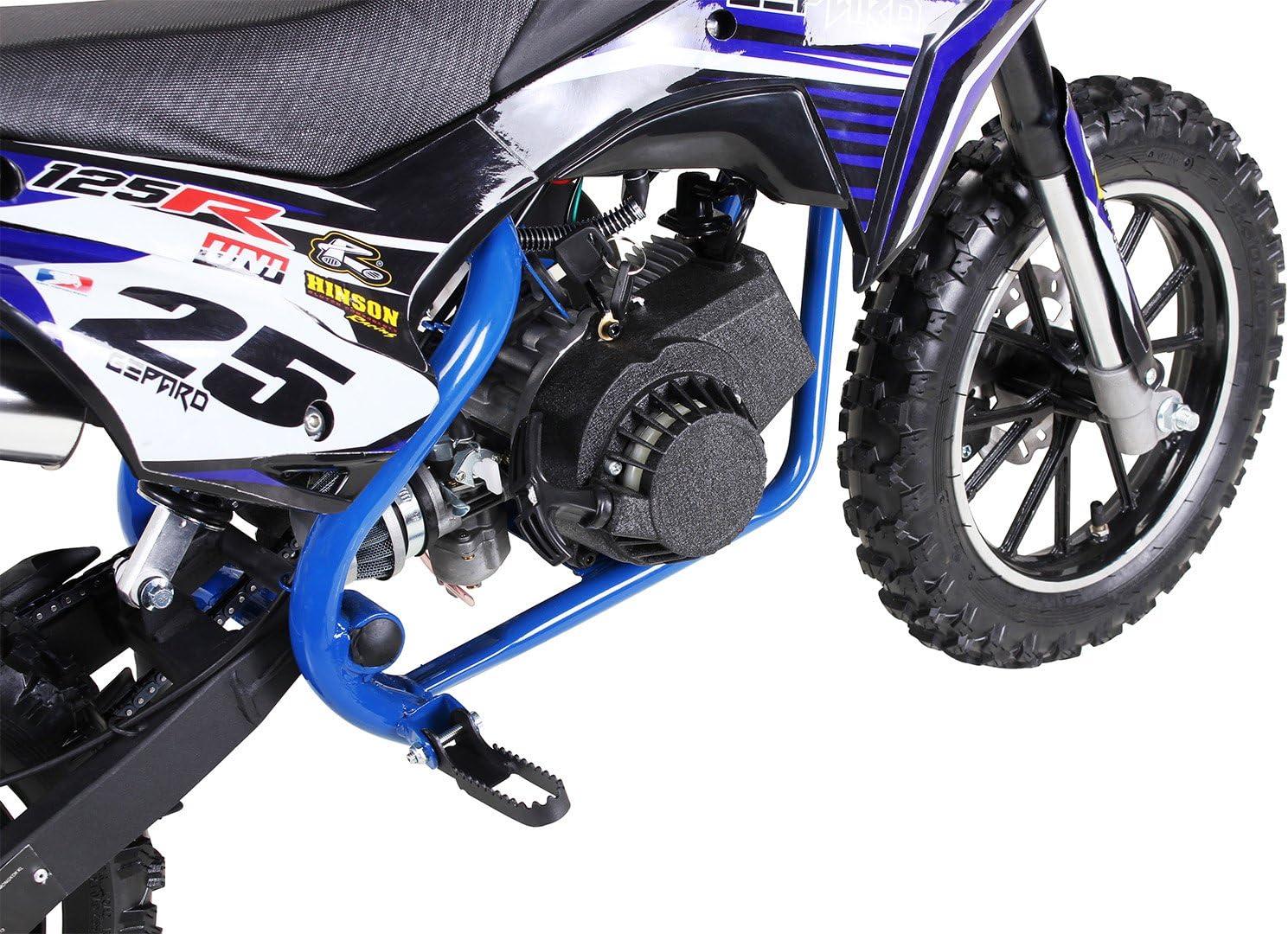 Moto de cross mini Gepard para niños, 49 cm³, 2 tiempos, incluye ...