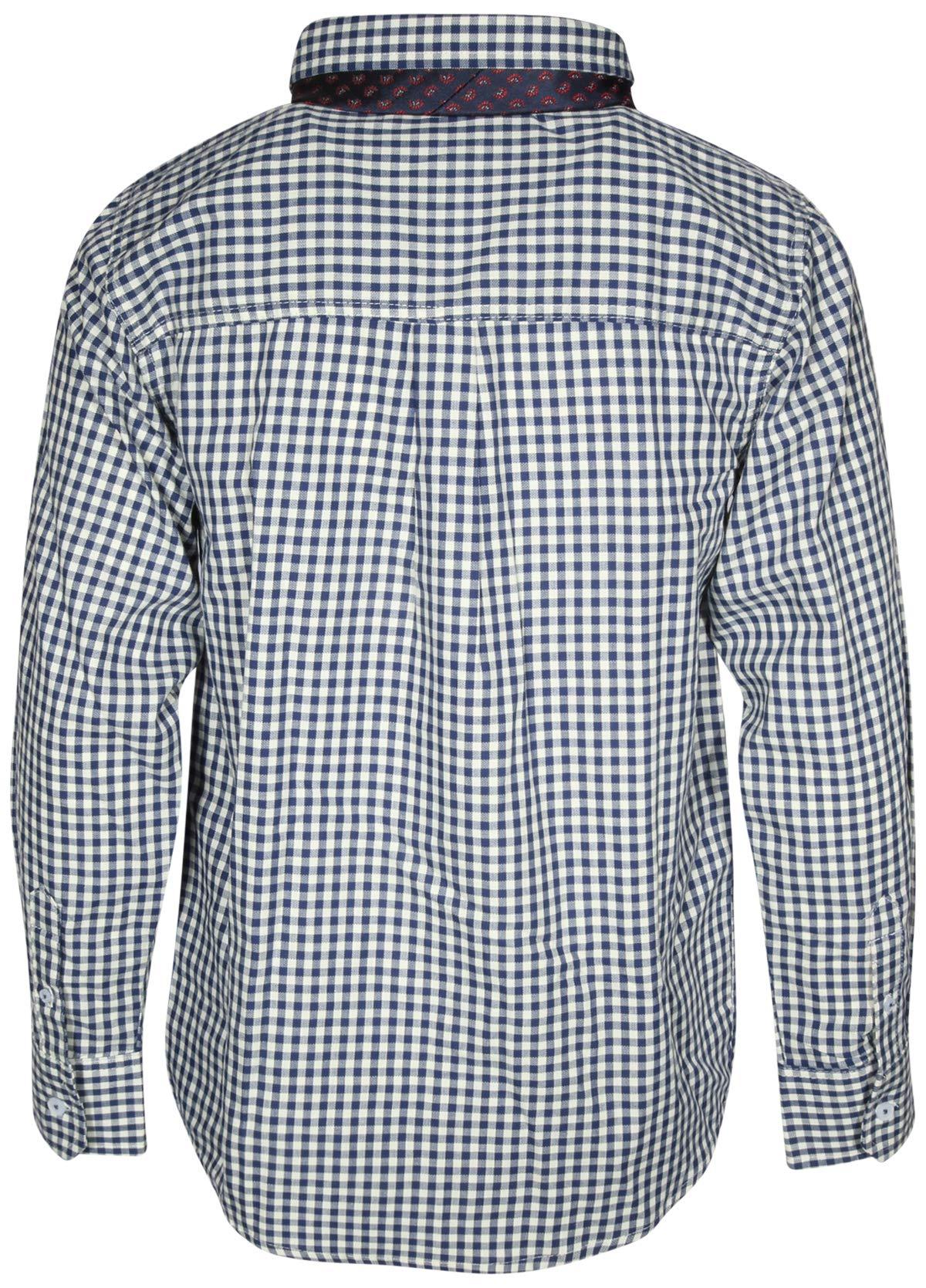 Ben Sherman Boys Long Sleeve Shirt Tie Set, White Plaid, Size 5' by Ben Sherman (Image #3)