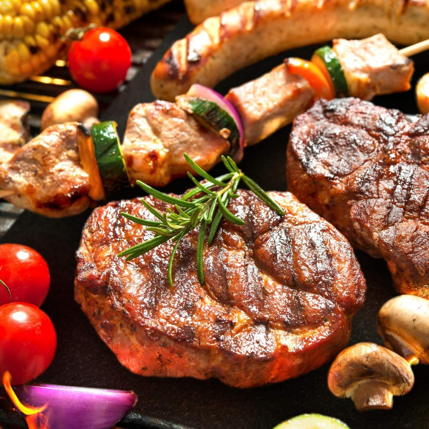 Barbecue mat (Set of 5), Grilldom and Reusable BBQ Grill Mat, Teflon Non-stick 0.2mm, 40x33cm by Grilldom (Image #4)