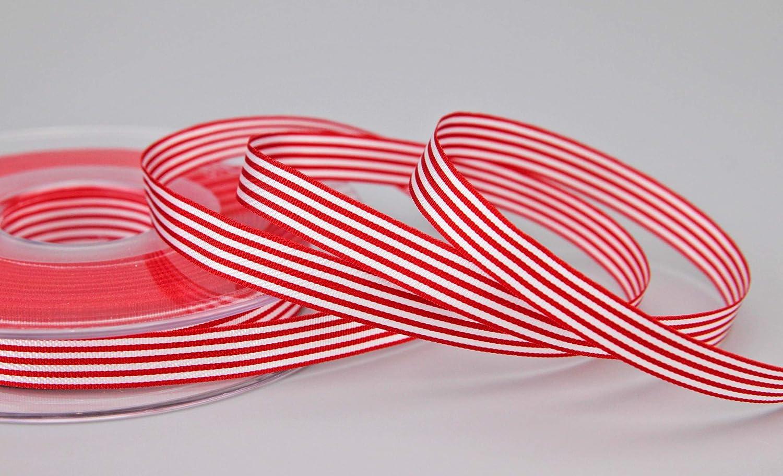 Streifen Geschenkband Schleifenband Stoffband gestreift elegant Geschenkverpackung Geburtstag Ostern Dekoration Premium Band Karten finemark Dekoband Stripes Taupe 3 m x 9 mm 0,62/€//m