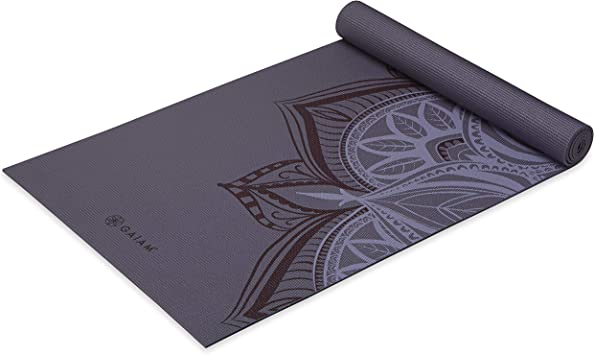 Gaiam Yoga Mat - Premium Print 5mm Thick Exercise & Fitness Mat for All Types of Yoga, Pilates & Floor Exercises (68