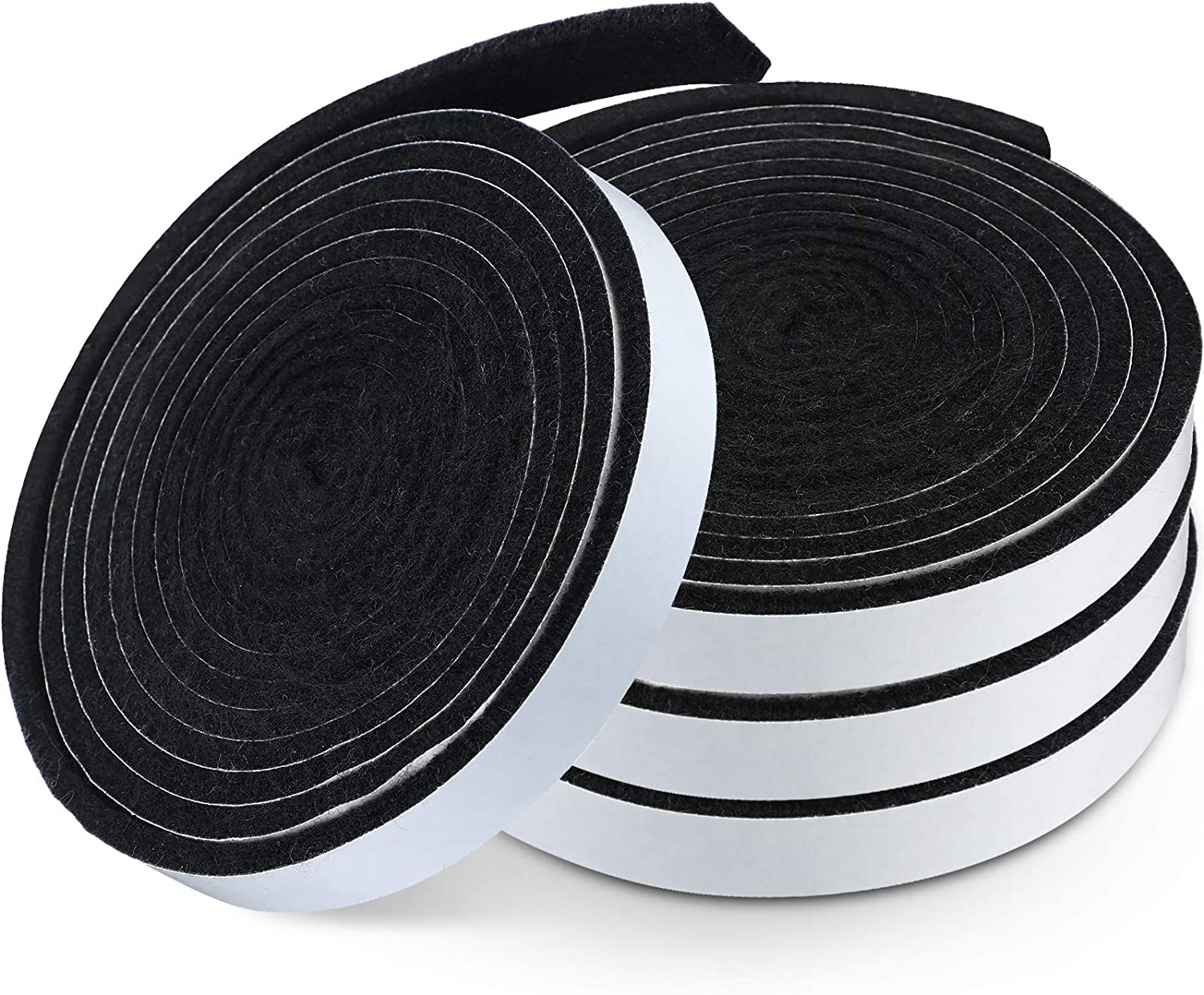 BBQ Gasket Black Smoker Grill Tape High Temp Grill Seal Self Stick Gasket, 7.5 Ft Length 1/8 Inch Thickness (4, 0.5 Inch Wide)