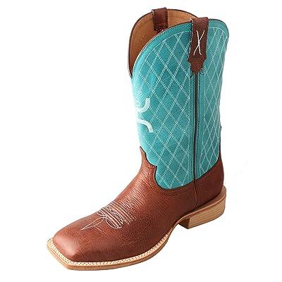 Twisted X Men's Hooey Boot Cognac/Turquoise | Western