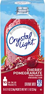 Crystal Light Sugar-Free Cherry Pomegranate Drink Mix (120 On-the-Go Packets, 12