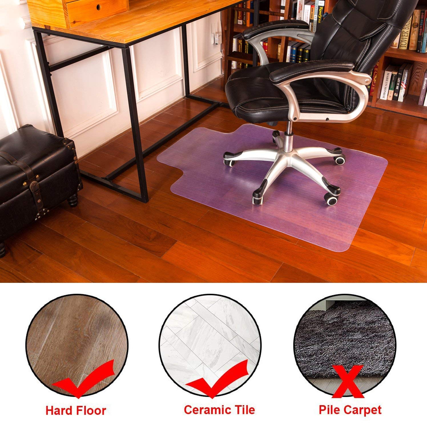 Chair Mat Home Office Floor Protectors For Gaming Computer Chair Anti Slip Desk Floor Mats 36 X 48 Mysuntown Mysuntown Office Chair Mat For Hardwood Floor Carpet Chair Mats