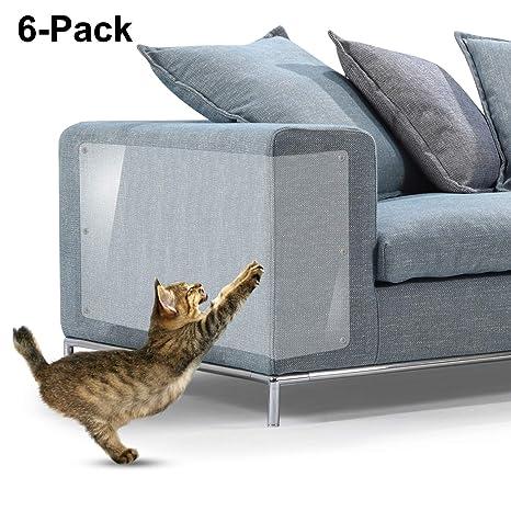Protectores de arañazos para muebles de gato, de vinilo flexible de alta calidad con clavijas