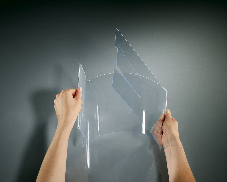 trasparente Sigel TA160 Porta-avvisi da tavolo//Porta-brochure da banco per A4 2 pz. pieghevole