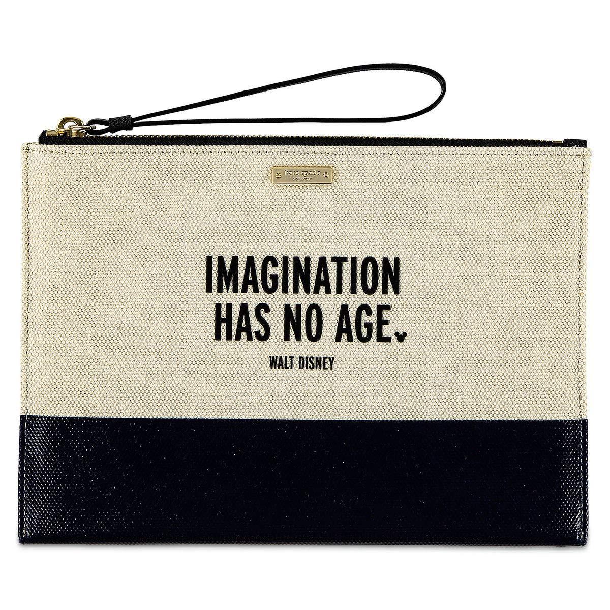 Disney ''Imagination Has No Age'' Canvas Clutch Bag Purse By Kate spade New York