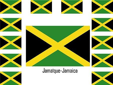 Sticker autocollant drapeau exterieur vinyle voiture moto jamaique jamaicain