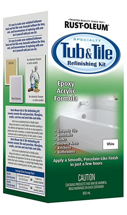 Rust-Oleum SPECIALTY Tub and Tile Refinishing Kit 280603, White ...