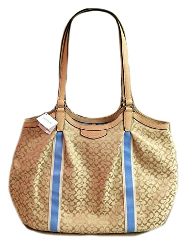 9aaff202ff COACH Devin Signature Stripe Shoulder Bag  Handbags  Amazon.com