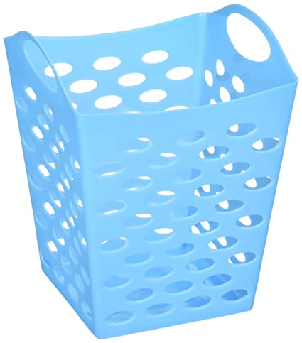 Bulk Buys HB813 Flexible Square Storage Basket, Green, Blue, Magenta