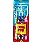 Colgate Oral Care Extra Clean Spazzolino da Denti, Misura Media, 4 pezzi