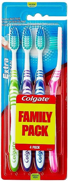 Colgate Extra Clean - Colgate Extra Clean - Cepillo de dientes medio, 4 unidades: Amazon.es: Amazon Pantry