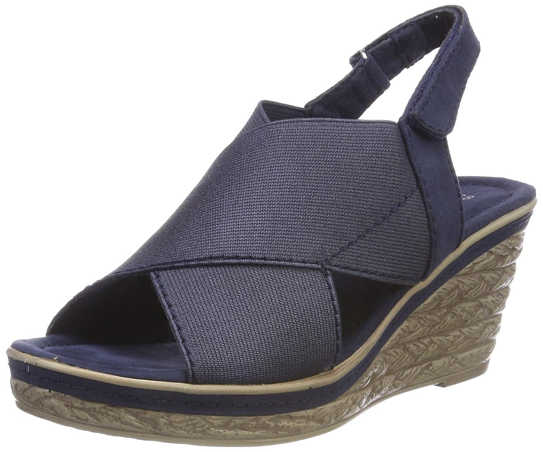 Marco Tozzi 28351, Sandali con Cinturino alla Caviglia Donna Blu (Navy Comb)