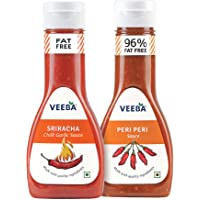Veeba Sriracha Sauce, 320g with Peri Peri Sauce, 300g