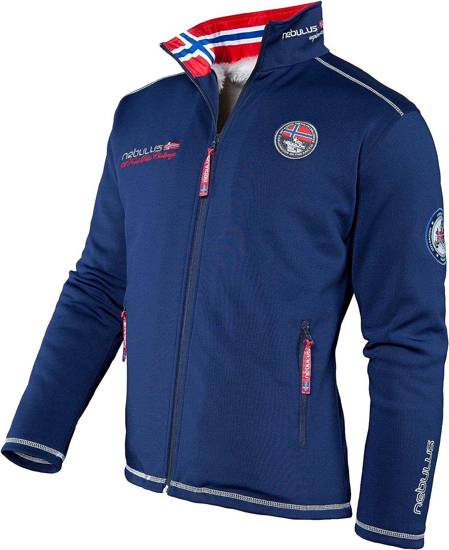 fur navy mens Nebulus High End Softshell Fur Jacket MAESTRO FUR Q617