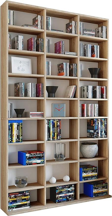 9 Fächer Raumteiler Bücherregal Standregal Büroregal Aktenregal Medienregal Holz