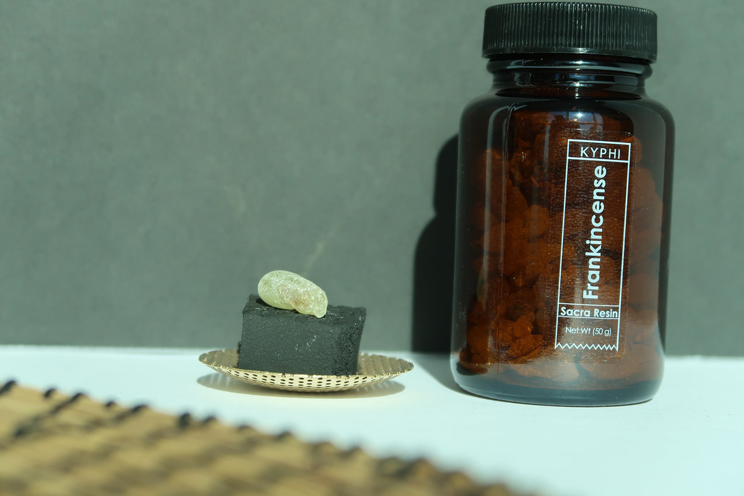 Kyphishop- Handmade Incense Burner Kit and Omani Frankincense Resin Ethically Graded Boswellia Sacra in a Beautiful Ready to use kit Includes Sulphur Free Coconut Shell Charcoal Cubes. by Kyphishop