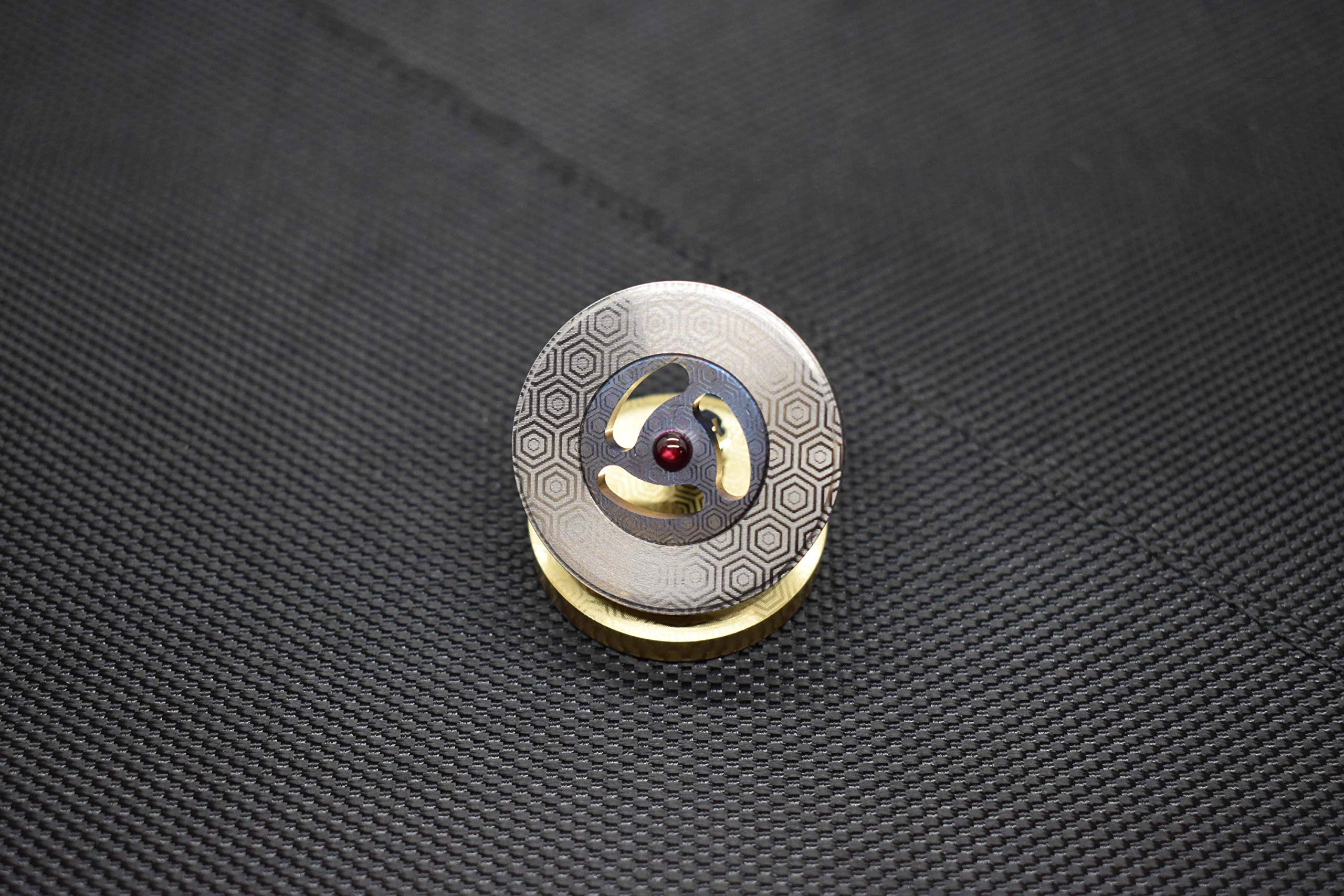 MetonBoss Spinning Tops - Tungsten Rotor / Precision Milled Titanium Core with Ruby Bearing | Everyday Carry Birthday Gift Ideas | Collectable Fidget (Performer MEGA) by MetonBoss (Image #4)