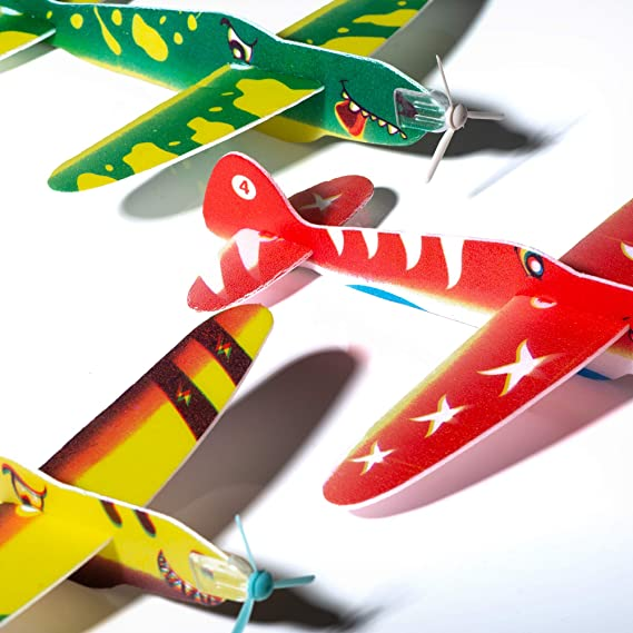 DINOSAUR FLYING GLIDERS Boys Party Loot Bag Fillers Toy Dino Planes R01631 UK