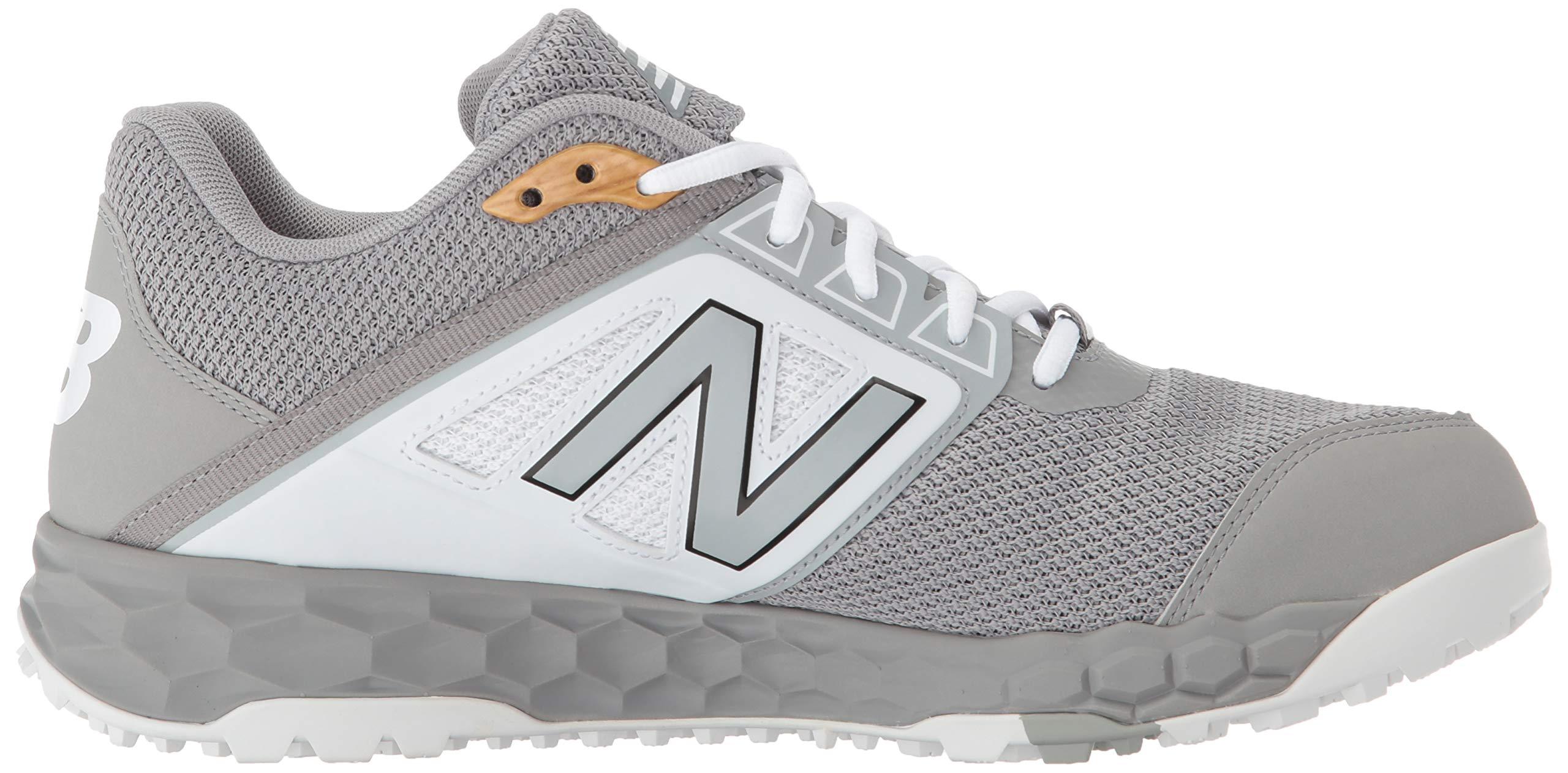 New Balance Men's 3000v4 Turf Baseball Shoe, Grey/White, 5 D US by New Balance (Image #6)