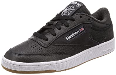 best website c70df 4e41f Reebok Club C 85 Estl, Chaussures de Tennis Homme, Noir (Coal White