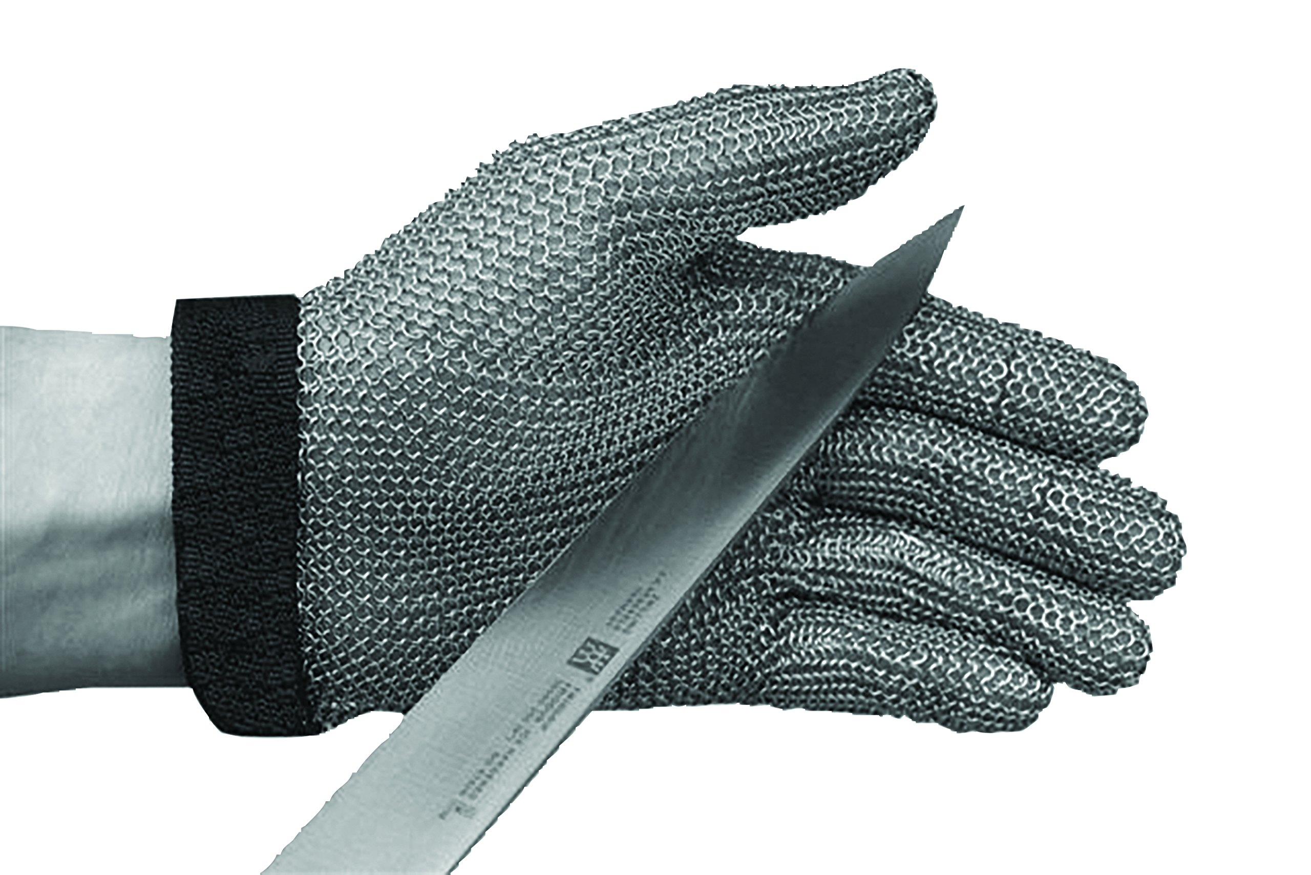 San Jamar MGA515L Ambidextroius Cut Protection Glove, Stainless Steel Mesh, Large