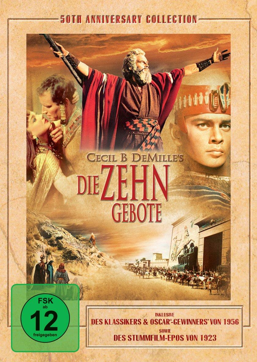 Die Zehn Gebote 50th Anniversary Edition 3 Dvds Amazon