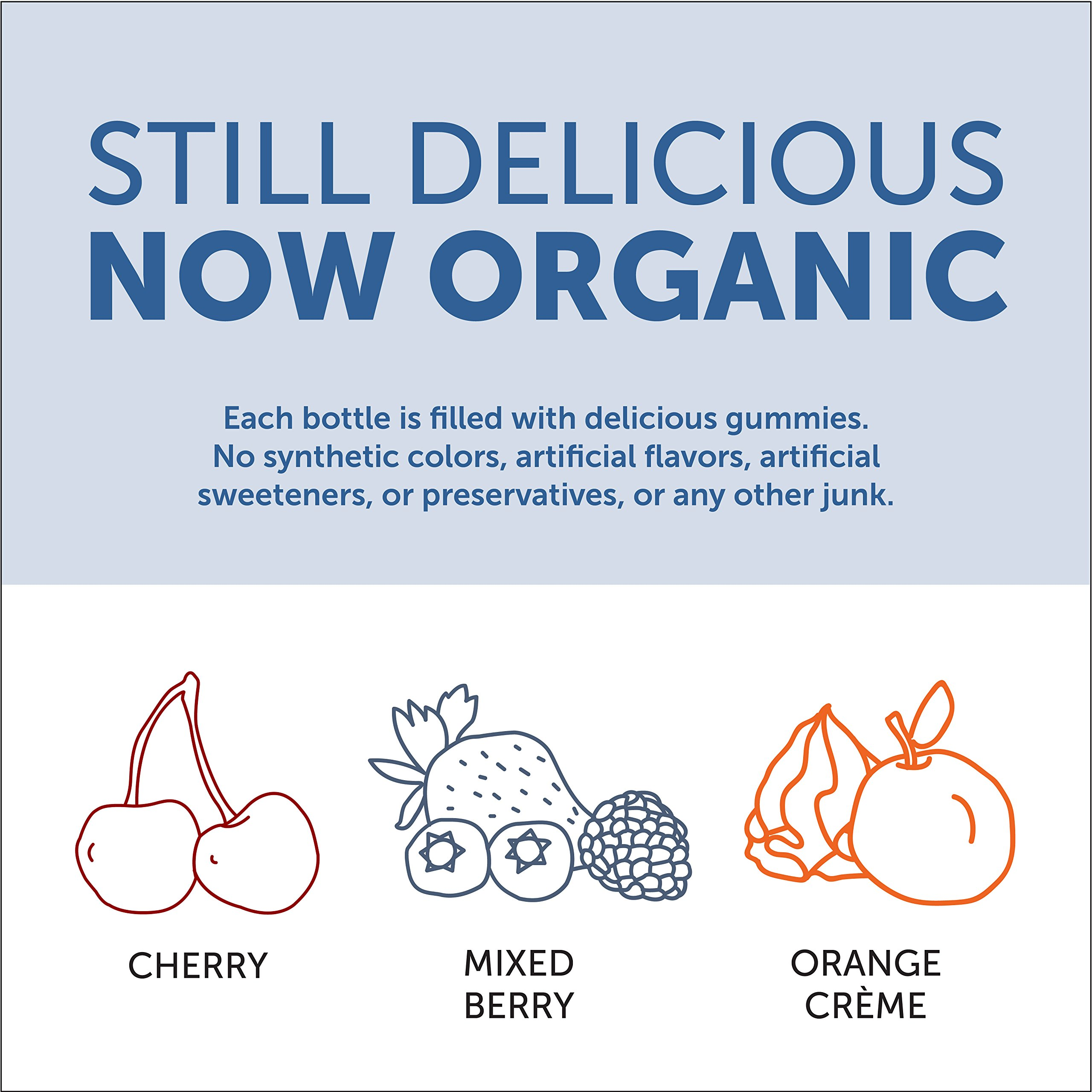 SmartyPants Vegetarian Organic Kids Daily Gummy Vitamins: Multivitamin, Gluten Free, Non-GMO, Omega-3, Probiotic, Vitamin D3, Methylcobalamin B12, Zinc; 120 Count (30 Day Supply) by SmartyPants Vitamins (Image #5)