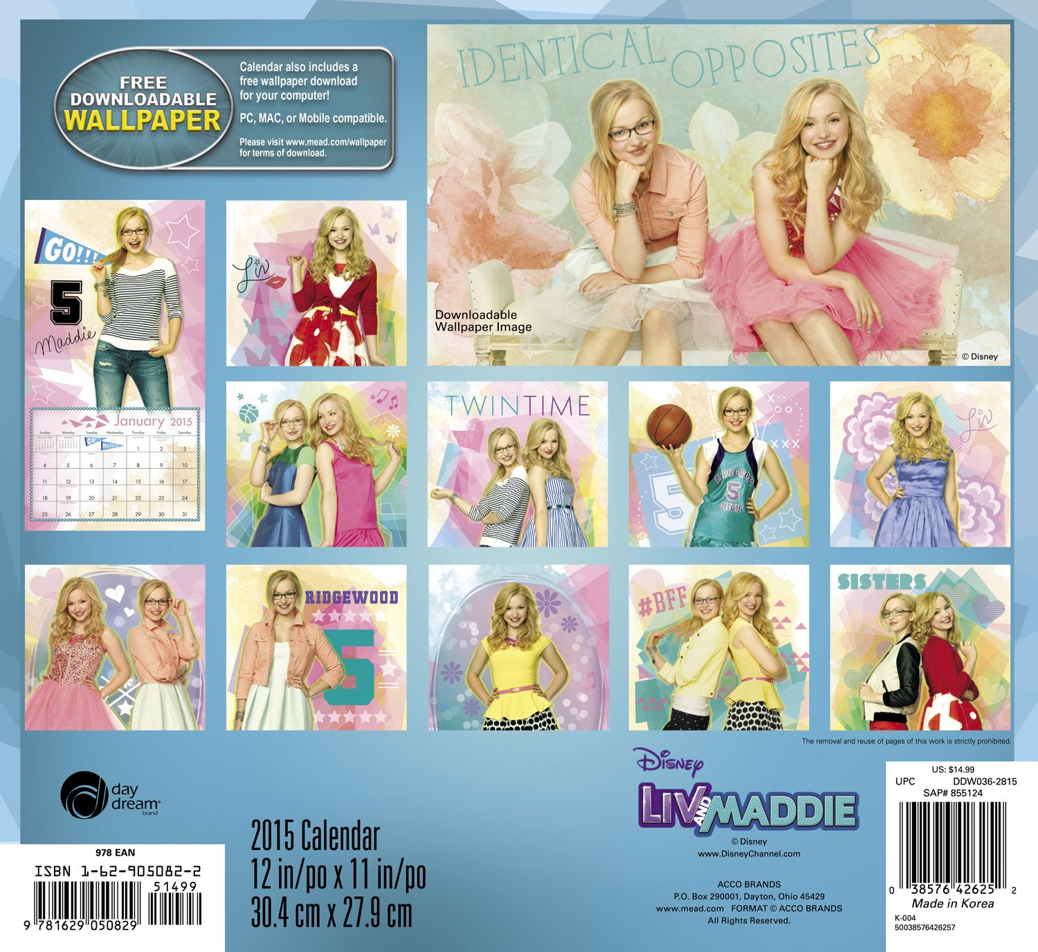 Printable coloring pages liv and maddie - Disney Liv And Maddie Wall Calendar 2015 Day Dream 9781629050829 Amazon Com Books
