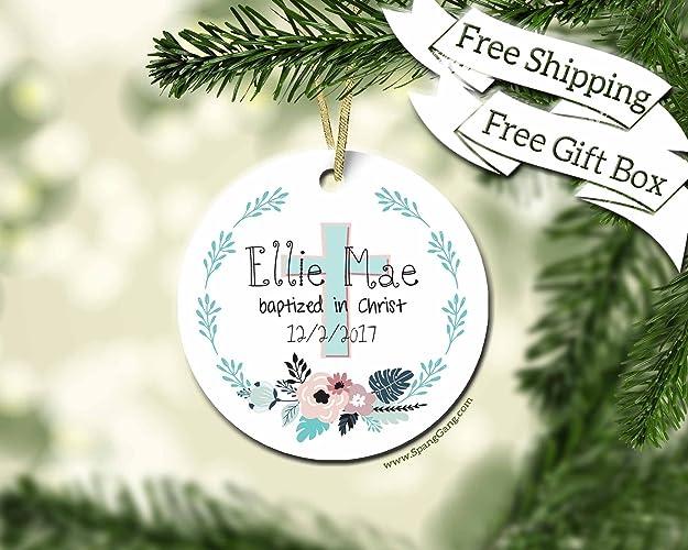 Amazon.com: Girl Baptism Gift Ornament, Christening Gift for Baby ...